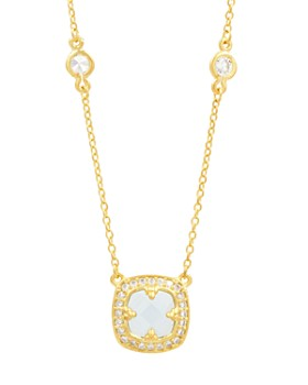 "Freida Rothman - Ocean Azure Pendant Necklace, 16"""