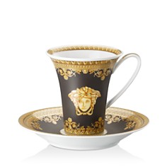 Versace By Rosenthal - I Love Baroque Nero Coffee Cup & Saucer