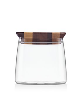 "Dansk - Signy Striped 4"" Wood Canister"