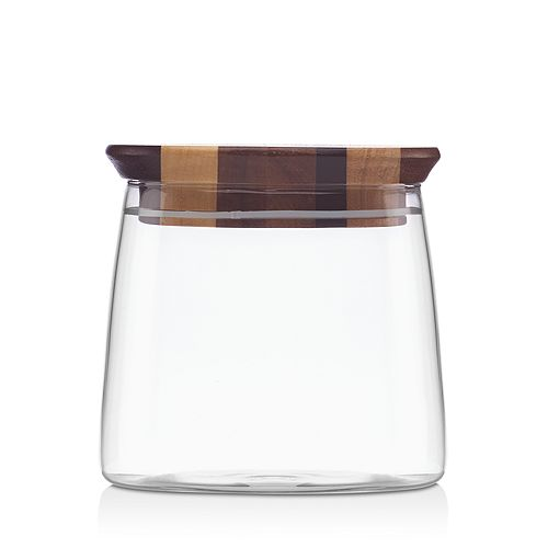 "Dansk - Signy Striped 4"" Wood Canister - 100% Exclusive"