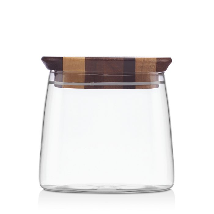 """Dansk - Signy Striped 4"""" Wood Canister - 100% Exclusive"""