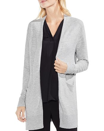 VINCE CAMUTO - Ribbed Open Cardigan