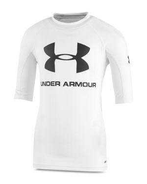 Under Armour Boys' Short-Sleeve Compression Rash Guard Shirt - Little Kid