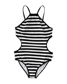kate spade new york Girls' Striped Side Cutout Swimsuit - Little Kid - Bloomingdale's_0