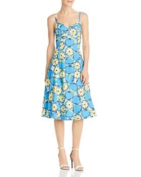 Boutique Moschino - Lemon-Print A-Line Midi Dress