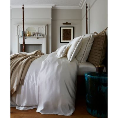 Silk Solid Flat Sheet, King - 100% Exclusive