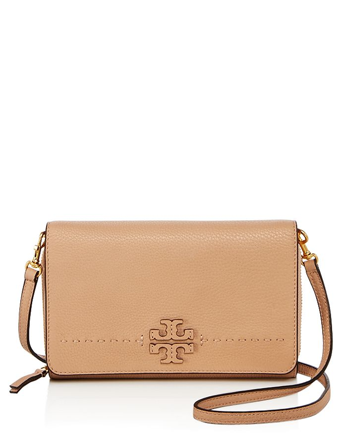 1b6c6932f Tory Burch McGraw Flat Leather Wallet Crossbody | Bloomingdale's