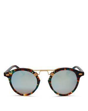 Krewe St. Louis Mambo Mirrored Round Sunglasses, 46mm - 100% Exclusive