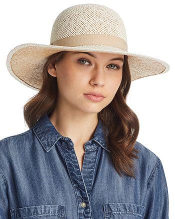 73091917 Raffaello Bettini Ribbon Trim Floppy Sun Hat | Bloomingdale's