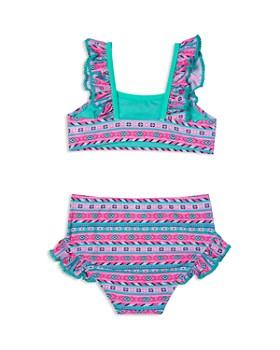 Hula Star - Girls' Printed High-Waisted 2-Piece Swimsuit - Little Kid