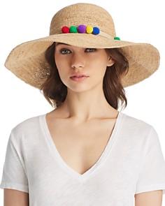 Marzi Pom-Pom Trim Floppy Straw Sun Hat - Bloomingdale's_0