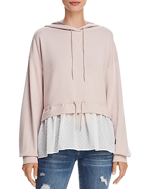 French Connection Cantin Faux-Underlay Hoodie