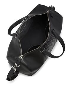 Salvatore Ferragamo - Firenze Pebbled and Woven Leather Duffel Bag