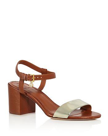 3f8951ecea56 Tory Burch - Women s Laurel Leather Block Heel Sandals