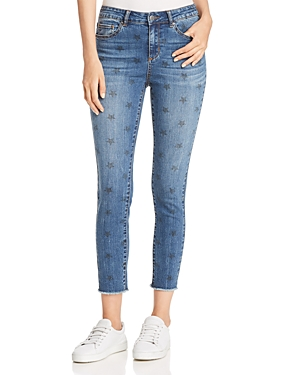 Aqua Star Print Skinny Jeans - 100% Exclusive
