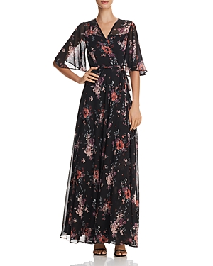 Aqua Floral Print Maxi Wrap Dress - 100% Exclusive