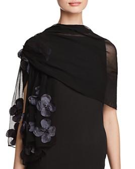 Echo - Flower Cascade Appliquéd Wrap