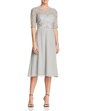Adrianna Papell Embellished Bodice Dress