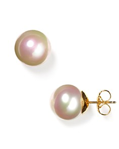 Majorica 14mm White Simulated Pearl Pierced Earrings - Bloomingdale's_0