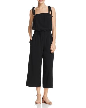 DYLAN GRAY CROPPED WIDE-LEG JUMPSUIT