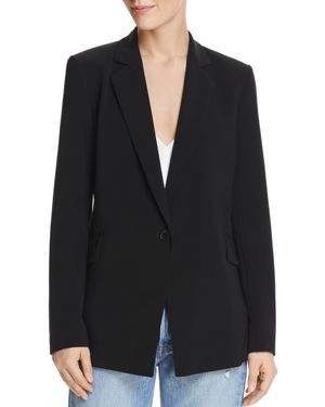 DYLAN GRAY SINGLE-BUTTON BLAZER