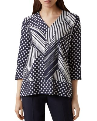 shelly-mixed-print-top by hobbs-london