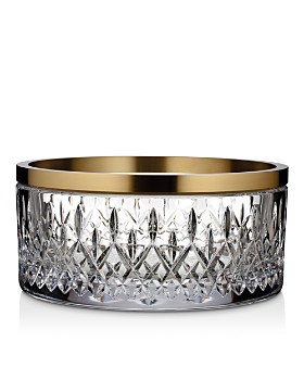 Waterford - Lismore Reflection Bowl with Gold Band