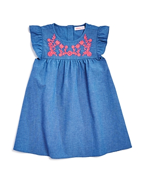 Design History Girls Embroidered Chambray Dress  Little Kid