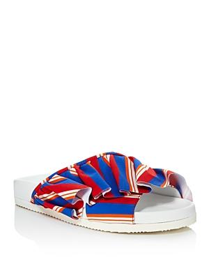 Joshua Sanders Women's Ruffle Pool Slide Sandals