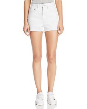rag & bone/JEAN - Justine High-Rise Denim Shorts in White