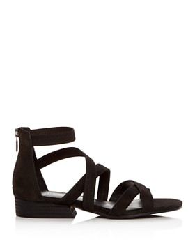 Eileen Fisher - Women's Eva Nubuck Leather Crisscross Sandals