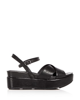 Eileen Fisher - Women's Juno Leather Crisscross Platform Sandals
