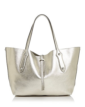 4514bd7dde1c Annabel Ingall Isabella Small Leather Tote - 100% Exclusive In Champagne  Silver Silver