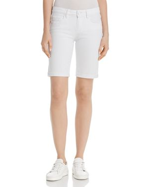 Jax Denim Bermuda Shorts In Crisp White