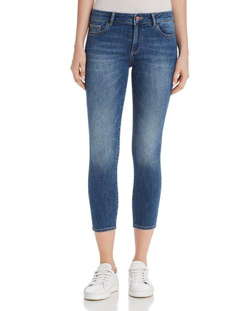 DL1961 - Florence Instasculpt Crop Skinny Jeans in Everglade