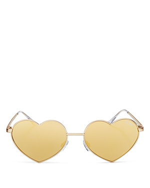 Quay Heart Breaker Mirrored Sunglasses, 143mm