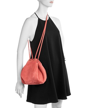 Creatures of Comfort - Puff Suede Drawstring Shoulder Bag