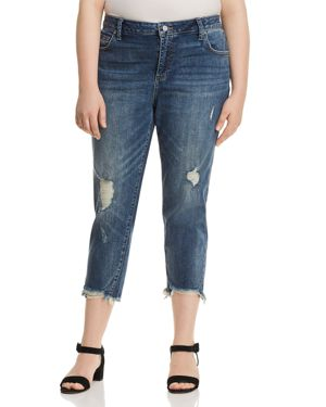 Lucky Brand Plus Reese Cropped Boyfriend Jeans in Beach Drive 2831100