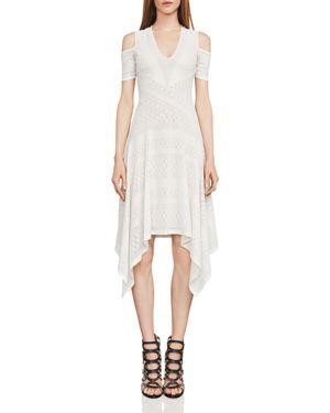Bcbgmaxazria Odette Cold-Shoulder Lace Dress