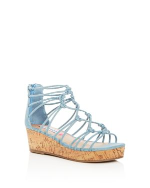 Steve Madden Girls' Wistful Denim Strappy Platform Wedge Sandals - Little Kid, Big Kid 2825840