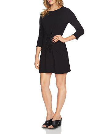 1.STATE - Lace-Up Knit Dress