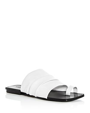 Sigerson Morrison Women's Abbe Leather Slide Sandals