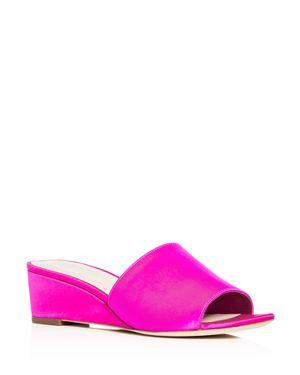 Women'S Tilly Satin Wedge Slide Sandals, Fuchsia