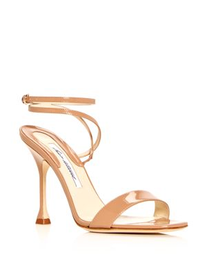 WOMEN'S SIENNA PATENT LEATHER ANKLE STRAP SANDALS