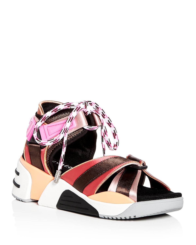Marc Jacobs Women's Somewhere Satin Platform Wedge Sport Sandals Zsr45Vyzl