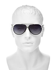 rag & bone - Men's Runway Vintage Brow Bar Aviator Sunglasses, 63mm