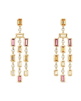 David Yurman - 18K Yellow Gold Novella Drop Earrings with Gemstones & Diamonds