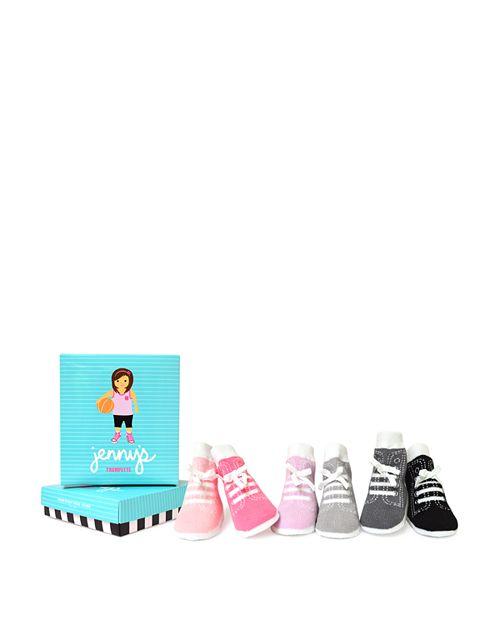Trumpette - Girls' Jenny Sneaker Socks, Set of 6 - Baby