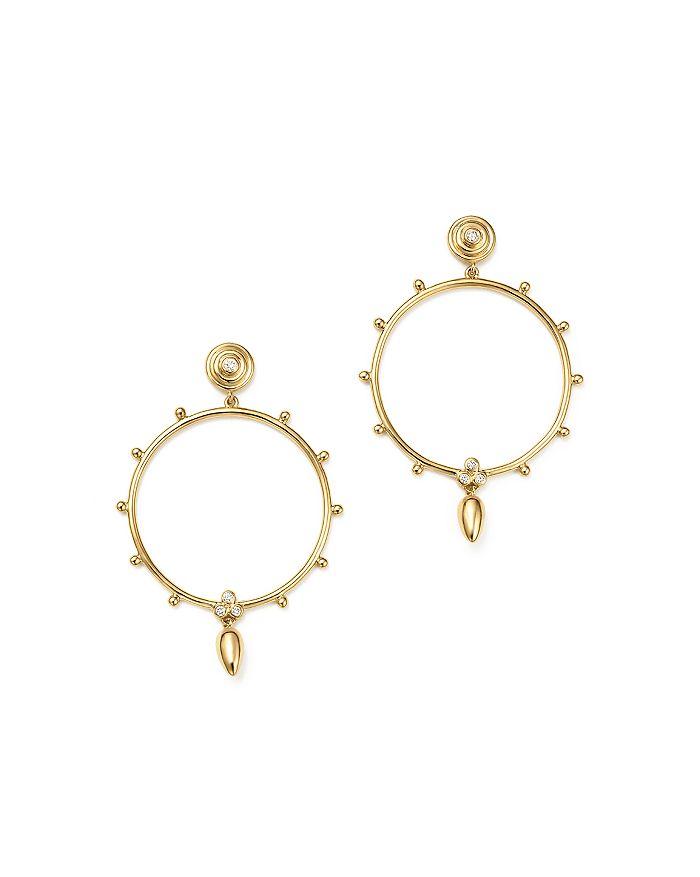 Temple St. Clair - 18K Yellow Gold Circle Anfora Diamond Earrings