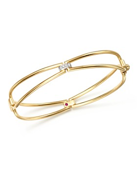 Roberto Coin - 18K Yellow Gold Classic Parisienne Diamond Bangle - 100% Exclusive